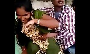 Telugu lovers Public kissing