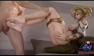 Mercy SFM footjob by BatyaStudio