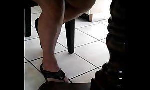 Spying moms legs 2