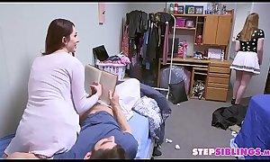 Step-Siblings Almost Busted Having Fun