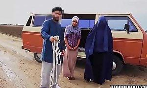 Arab impoverish sells his concede laddie
