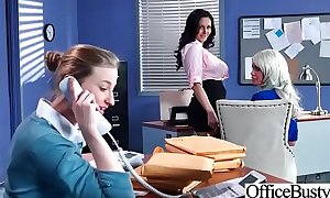 Busty office hotwife (ava addams & riley jenner) acquire hardcore act group-sex vid-03
