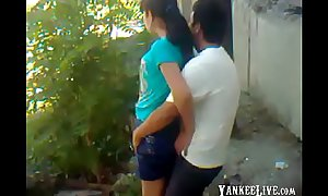 Uzbek young couple outdoor - Khwarezm