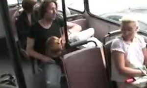 Valentina Blue does evenly on a bus