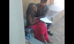 Rare clip ofdesi bhai behen kissing in backyard.