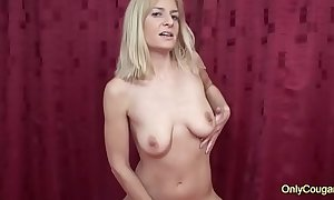 MILF Adeline Barb Plays With Her Saggy Old Tits