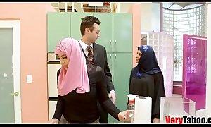GIRL IN HIJAB rides her stepdad- DUBAI STORIES