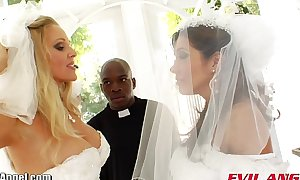 Evilangel francesca le interracial wazoo fucking three-some
